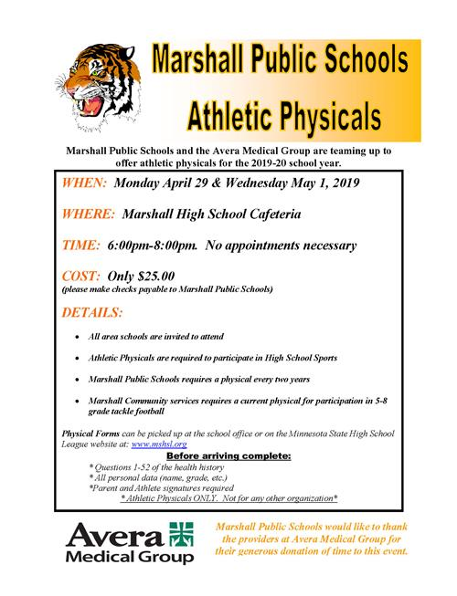 Need an Athletic Physical?