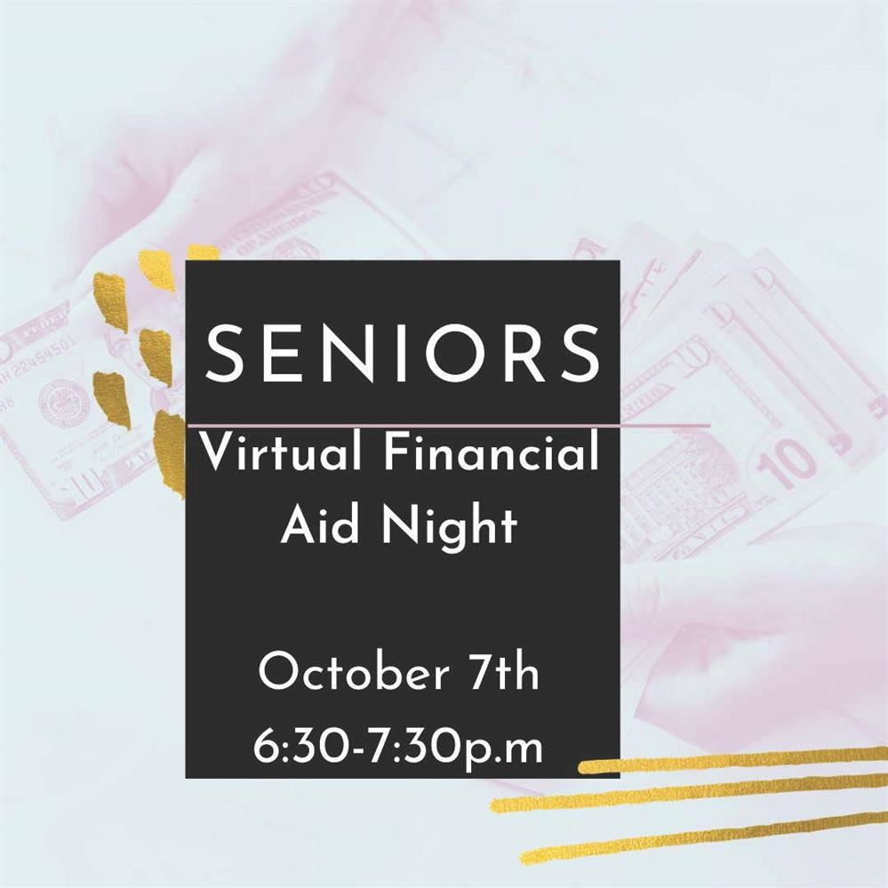 Financial Aid Meeting is Wednesday, Oct 7