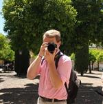 Me, doing what I love - taking photographs - while on a college band tour to Spain in 2017