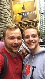 My friend Sam and I at Hamilton in Chicago!